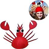 Tinksky Disfraces divertidos de Halloween para el partido Sombrero lindo de cangrejo para la decoración de Halloween de Halloween de Pascua