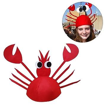 Tinksky Disfraces divertidos de Halloween para el partido Sombrero lindo de  cangrejo para la decoración de d22fe5a2fc0