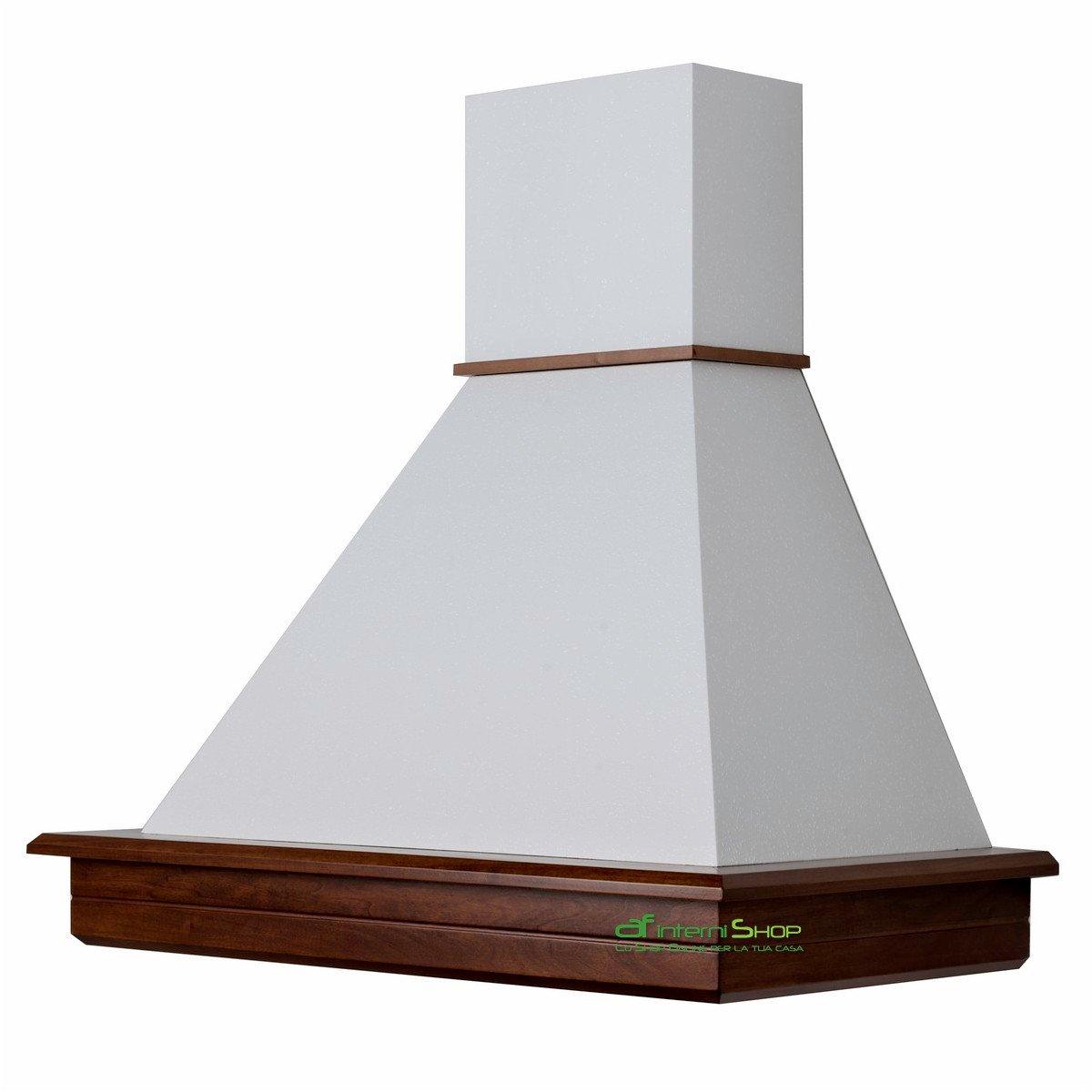 Cappa cucina rustica legno mod.Stock 60 da parete - Noce biondo ...