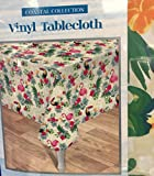 Homewear Flamingo Dance Easy Care Vinyl Tablecloth Coastal Collection, 60'' x 102'' Oblong