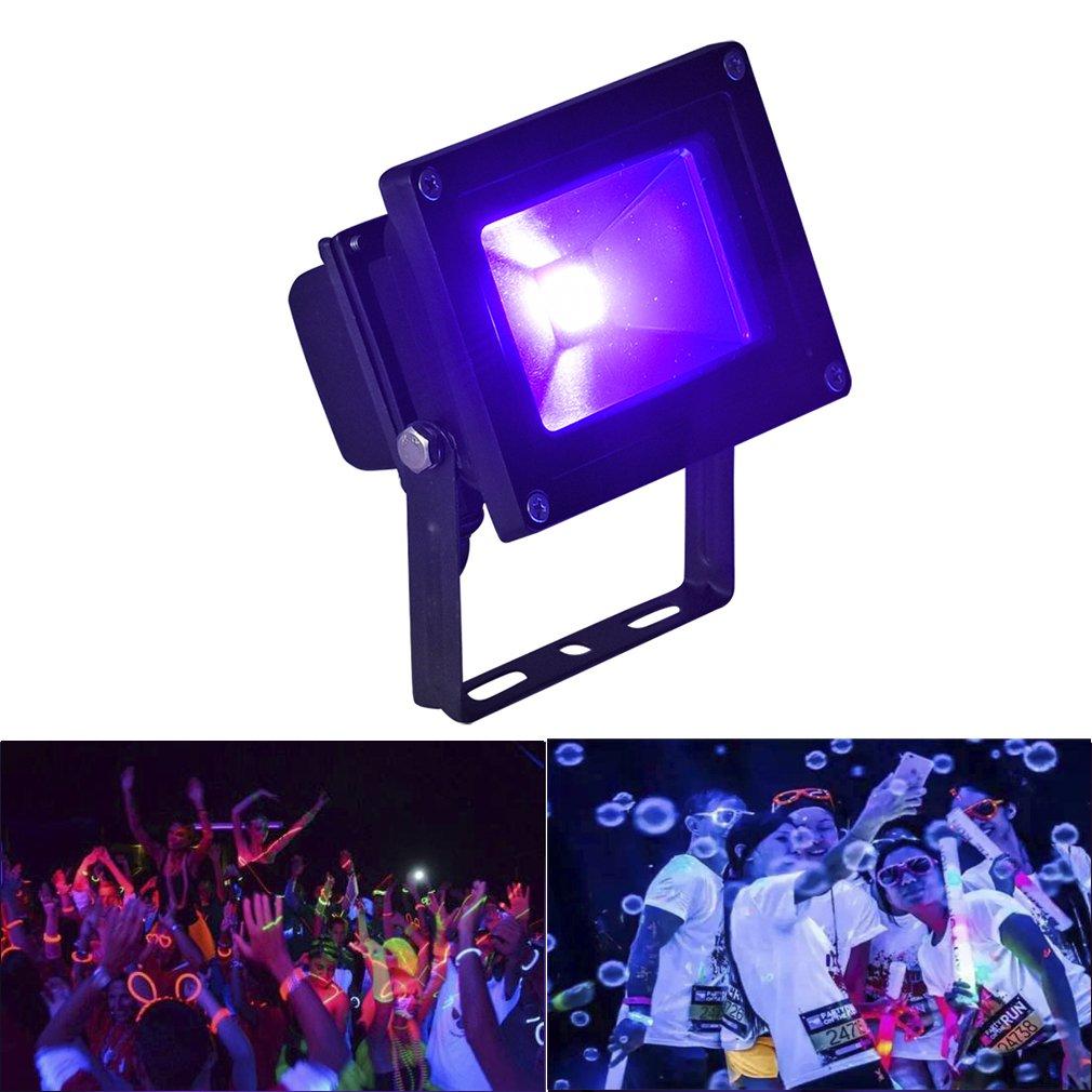 Byshun UV LED Flood Light,10W Ultra Violet Blacklight IP65 Waterproof for Blacklight Party Supplies,DJ Stage Lighting,UV Body Paint,Glow in The Dark,Aquarium,Curing,Fishing
