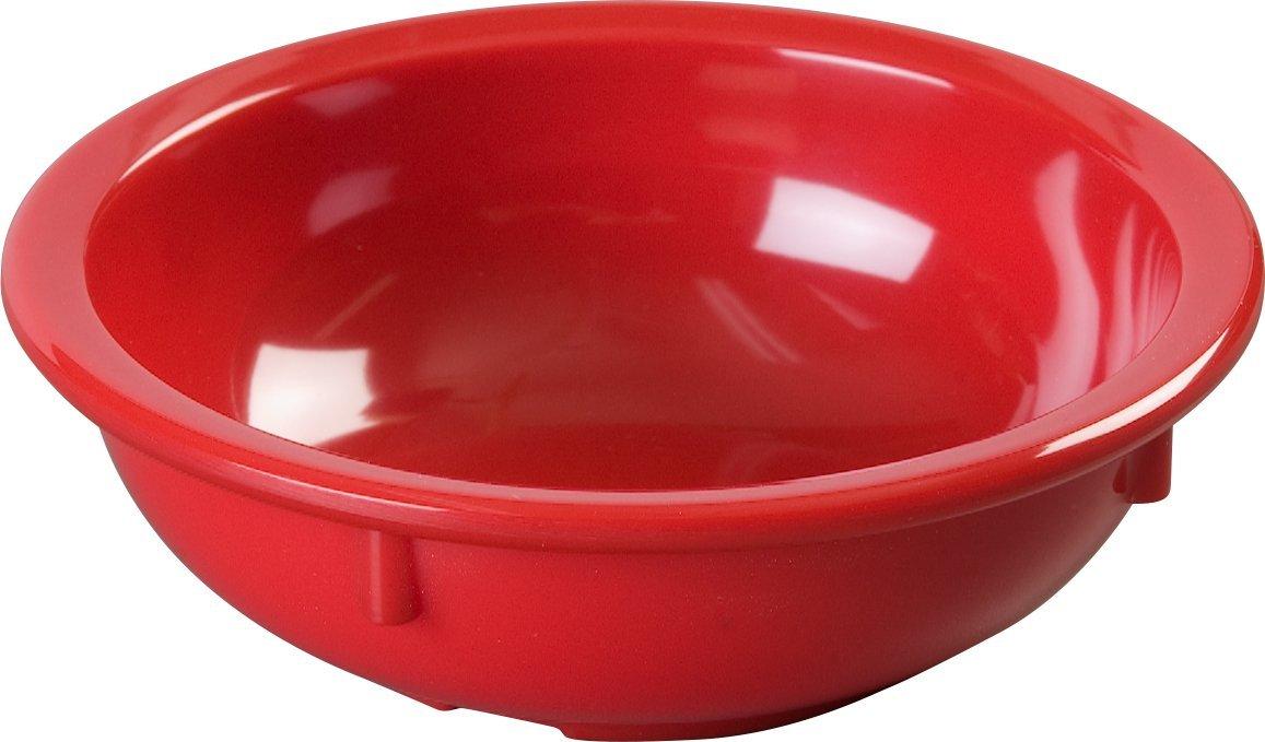 Carlisle KL11805 Kingline Melamine Nappie Bowl, 9.3 oz. Capacity, 5.12 x 1.65'', Red (Case of 48)