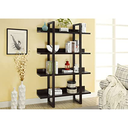 Merveilleux Monarch Open Concept Display Etagere, 71 Inch, Cappuccino
