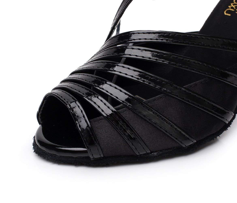 Frauen PU Latin Salsa Tanzschuhe Salsa Tango Tango Tango Tee Samba Modern Jazz Schuhe Sandalen High Heels GrauHeeled7.5cm-UK5.5   EU38   Our39 (Farbe   schwarzheeled8.5cm Größe   UK5 EU37 Our38) b151f1