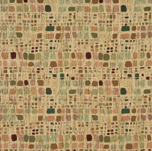 Sage Tan and Burgundy Retro Color Palette Abstract Chenille Upholstery Fabric by the (Contemporary Retro Palette)