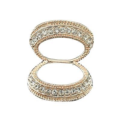 PYNK Jewellery Single Row Diamante Crystal Wreath Circle Scarf Ring O16k9AmQVO
