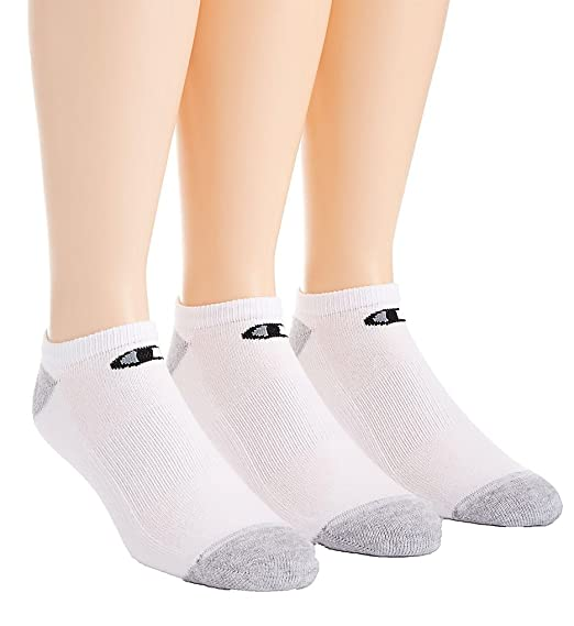 26df293f54d Champion Double Dry Performance No Show Socks - 6 Pack (CH609) 6-12 White  Black at Amazon Women s Clothing store