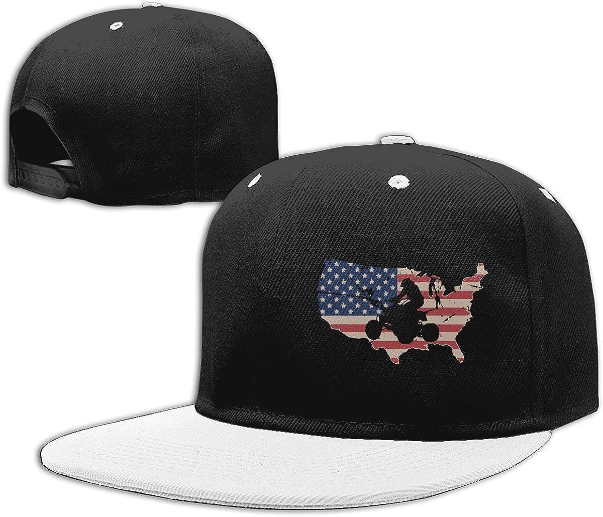 NMG-01 Women Men Trucker Cap ATV Quad USA Flag Printed Hip Hop Baseball Caps