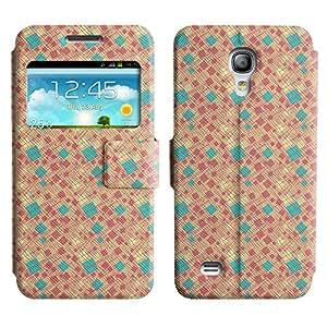 LEOCASE Caja Y Líneas Funda Carcasa Cuero Tapa Case Para Samsung Galaxy S4 Mini I9190 No.1000387