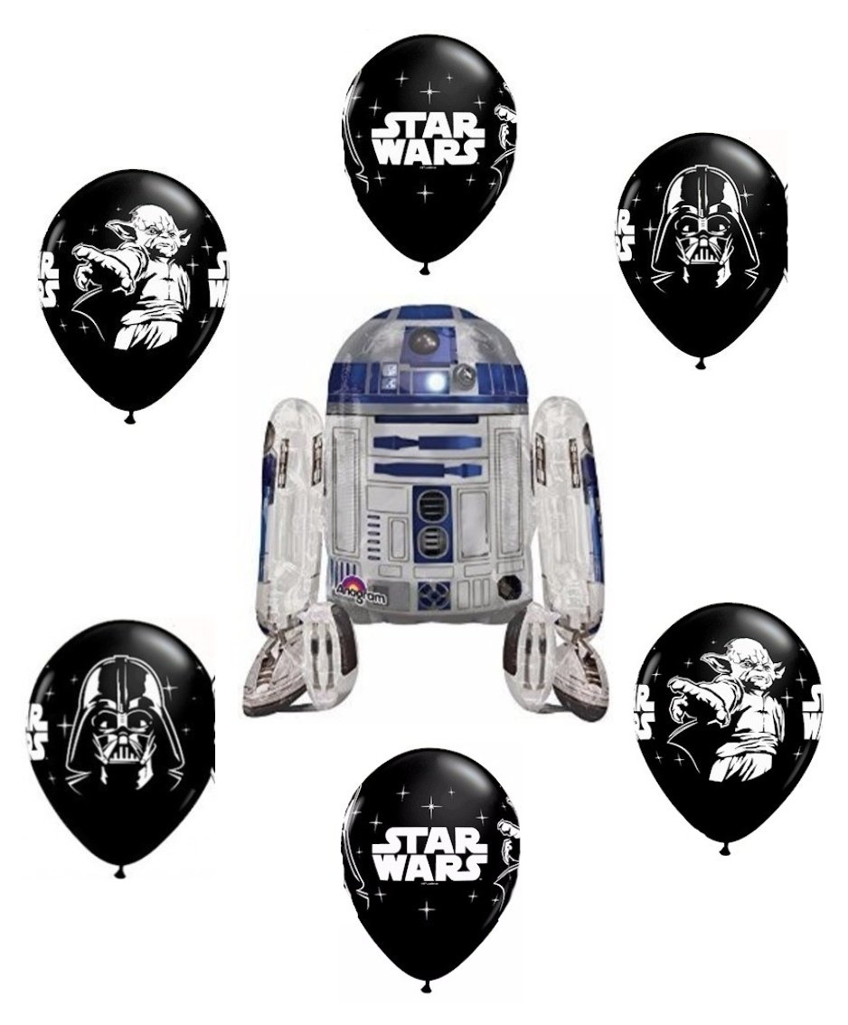 party supplies Star Wars R2d2 Airwalker Balloon Bouquet