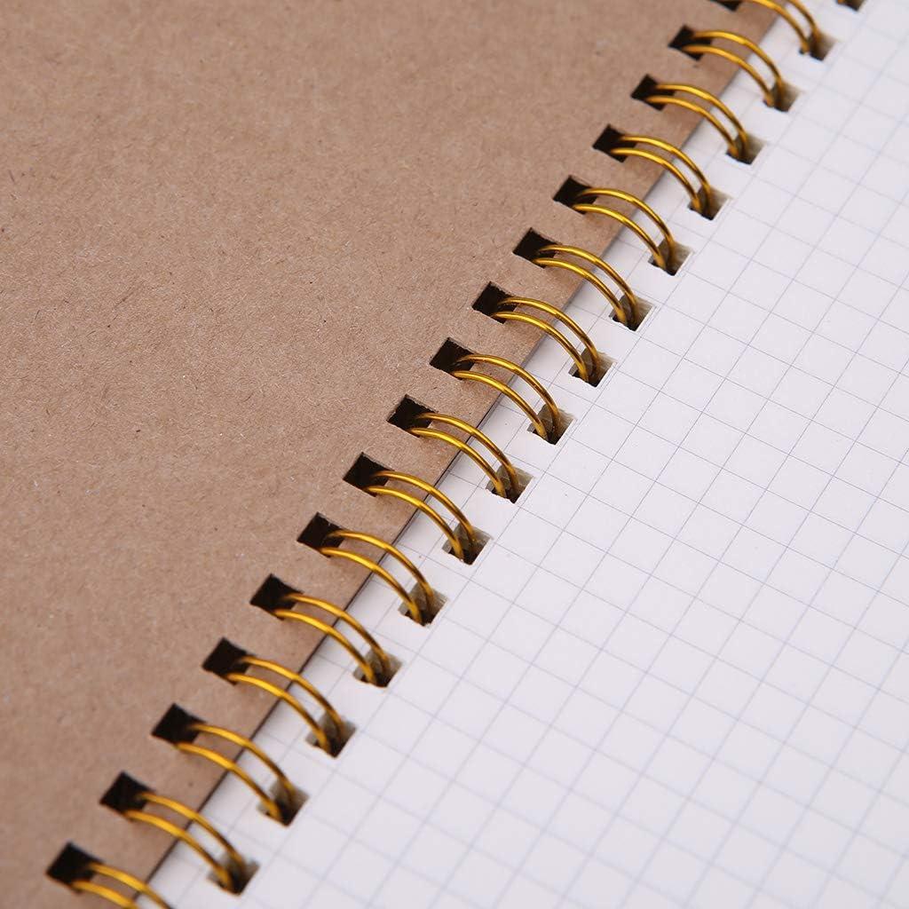 GUANGSHAN A5 Bullet Notebook Kraft Dot Grid Time Management Blank Book Spiral Journal Weekly Planner School Office Supplies