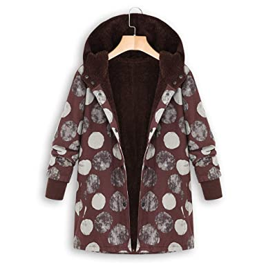 MEIbax Damen Vintage Steppjacke Winter Warm Outwear