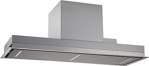 Campana extractora de techo, módulo de ventilador (90 cm, acero inoxidable, 4 escalones, cristal negro, iluminación LED, control SensorTouch, aire de escape o aire circulante) INTEGRA606 - KKT KOLBE: Amazon.es: Hogar