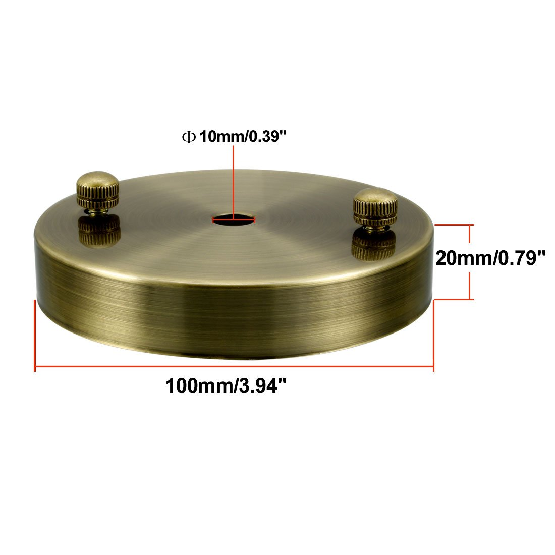 uxcell Retro Ceiling Light Plate Pointed Base Chassis Disc Pendant Accessories 100mmx17mm Bronze Tone w Screw a18032300ux0144