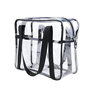 6eb3ba67770 ONEGenug Clear Toiletry Bag Thick Transprent Cosmetic Bag Waterproof Makeup  Artist Large Bag Organizer Storage Easy Clean  Amazon.co.uk  Clothing
