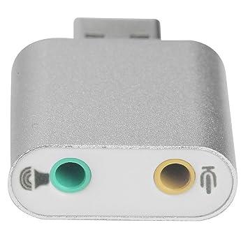 Generic Aleación Aluminio USB 2.0 Estéreo Externo 7.1 Canales Adaptador Tarjeta Sonido 3D