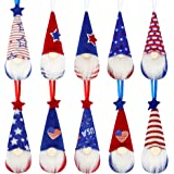 BLOCE Patriotic Hanging Gnome Ornament 4th of July, 10 Pieces Patriotic Day Hanging Tree Pendant for Memorial Day Labor Day F