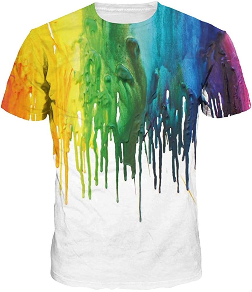 Funny 3D Printed Graphic Custom Short Sleeve T Shirts Tees for Unisex