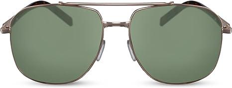 sonnenbrille Anndamen kat 3 pilot gold//grün stärke 2.00