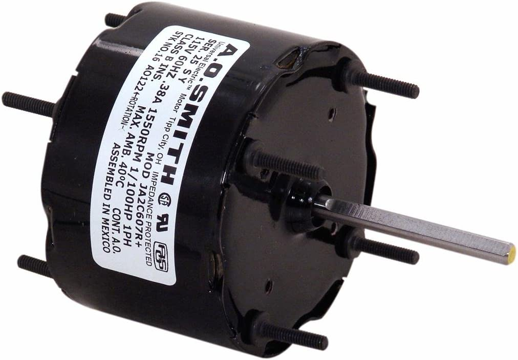 AO Smith 17 Blower Motor, 3.3-Inch Frame Diameter, 1/100 HP, 1550 RPM, 115-Volt, 0.38-Amp, Sleeve Bearing