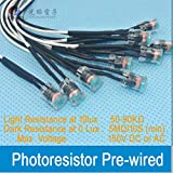 50pcs of 5.9''Leads LDR Pre-Wired PHOTORESISTOR SG5539 Light Dependent Resistors