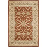 Safavieh Florenteen Collection FLR127-3412 Traditional Oriental Rust and Ivory Area Rug (4' x 6')