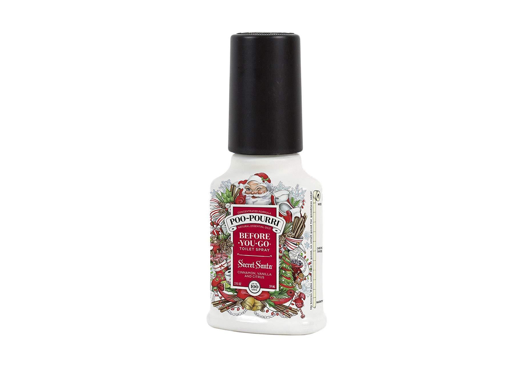 Poo-Pourri Secret Santa Claus Christmas Bathroom Spray-2 Oz