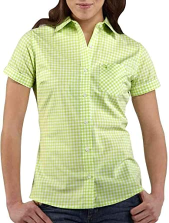 Carhartt Women's Short Sleeve Gingham Shirt at Amazon Women's ...