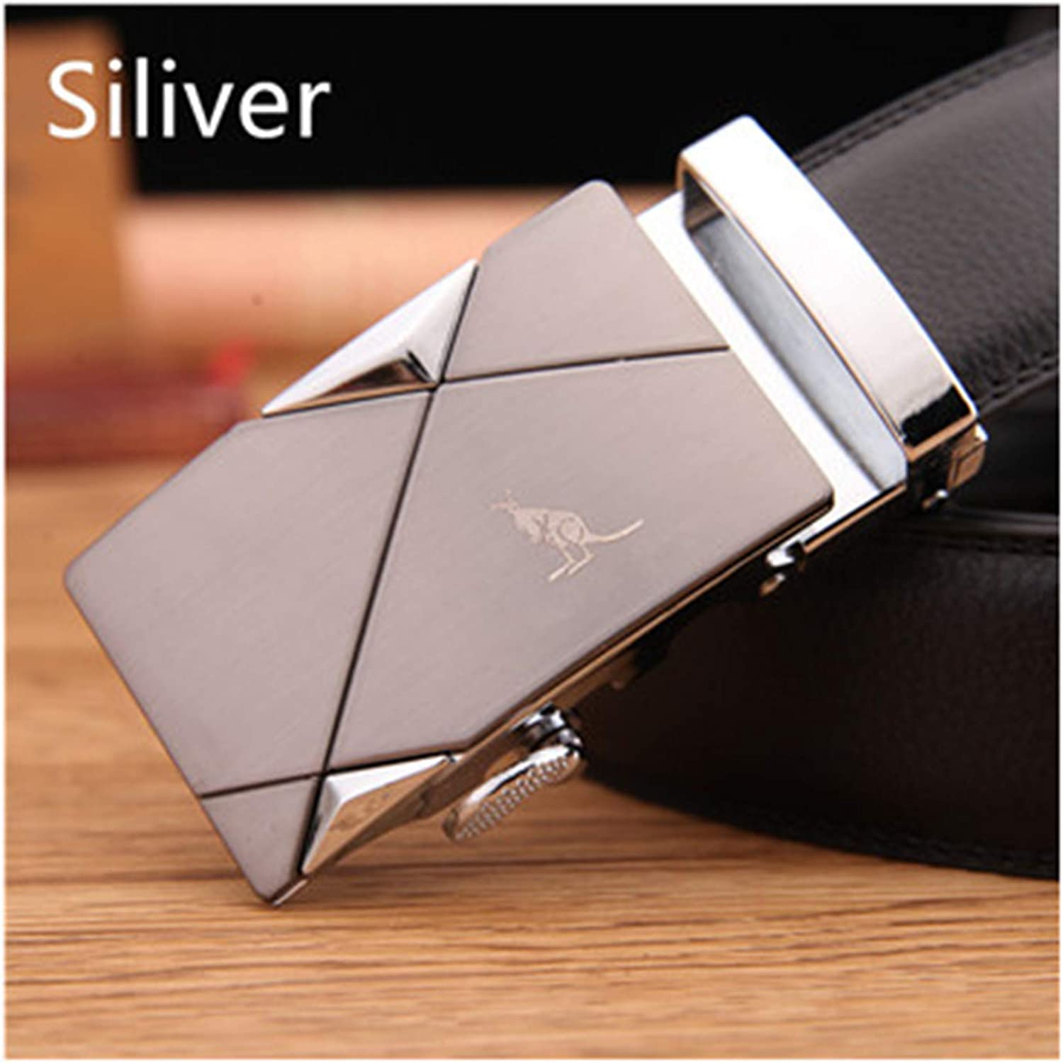 New Fashion Leather Belts For Men Metal Automatic Buckles Waistband