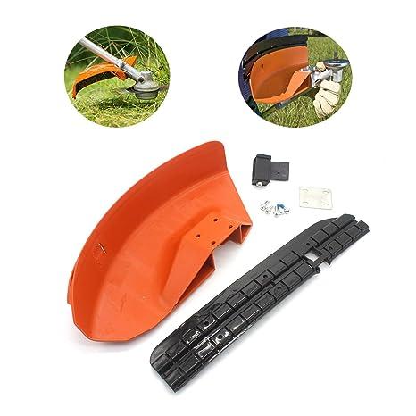 MODIFY-GT Protector Deflector para desbrozadora de cortacésped para STIHL FS110 FS130 FS160 FS180 FS200 FS220 FS240 FS250, sustituye a 4119 007 ...