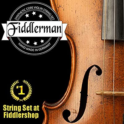 Fiddlerman Violin String Set, Synthetic Core w/ Ball-End for both 4/4 and 3/4 size by Fiddlerman