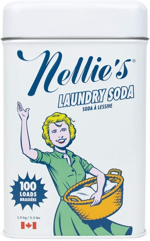Nellie's All-Natural Non-Toxic Vegan Powdered Laundry Detergent, 100 Loads (3.3lbs) Fresh Scent