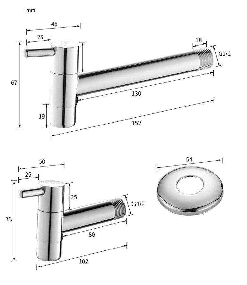 stile : A Mop the pool faucet Rubinetto singolo in rame singolo a freddo rubinetto piscina nella parete allungare la lavatrice rubinetto piscina rubinetto piscina apertura rapida piccola rubinetto