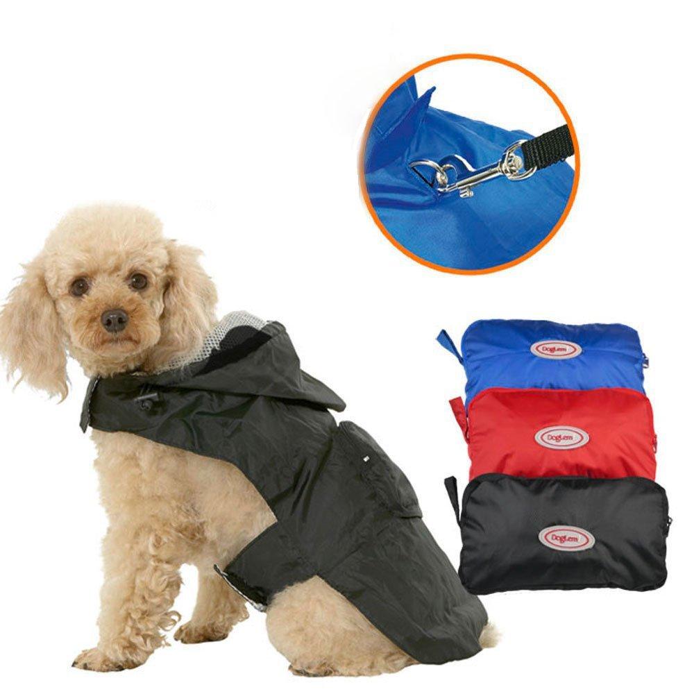 Pesp Pet Dog Puppy Waterproof Reflective Raincoat Jacket Outdoor Hooded Dog Poodle Rainwear