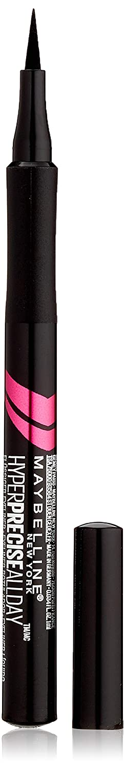 Maybelline New York Hyper Precise All Day Delineador de Ojos Waterproof, Color Negro - 1 ml