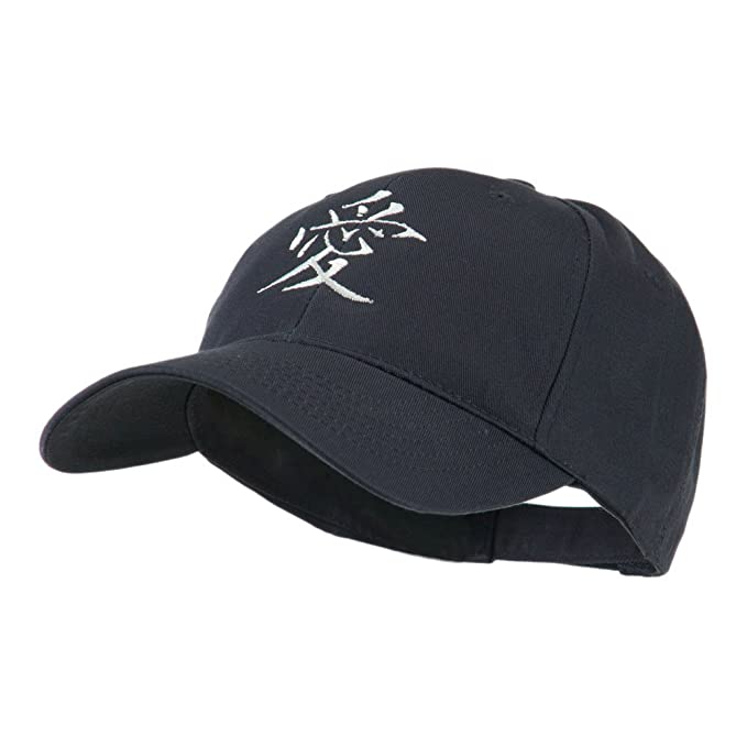 E4hats Chinese Symbol For Love Embroidery Cap Navy Osfm At Amazon