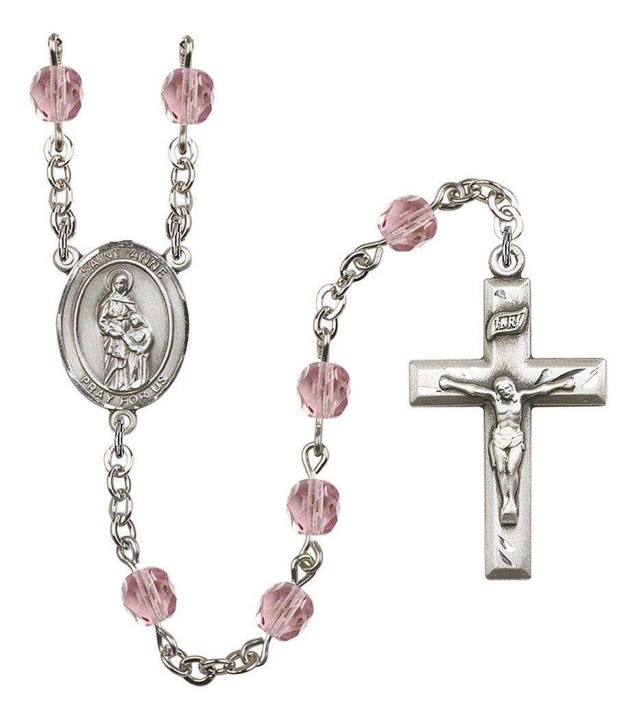 June Birth Month Prayer Bead Rosary with Saint Anne Centerpiece, 19 Inch by Birth Month Rosary