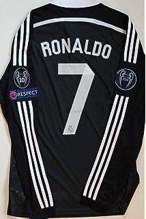 3b49ca7cf92 Retro Ronaldo 7 Real Madrid Black Dragon Longsleeve Soccer Jersey 2011-2012