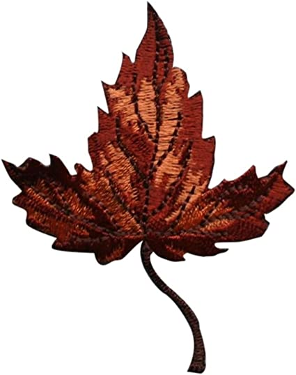 Fall Autumn Leaves Leaf Embroidered Iron On Patch