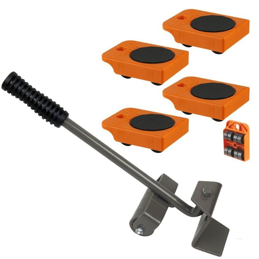 Furniture Lifter with 4pc Mover Rollers, Move Heavy Furniture Easily - Furniture & Appliances Roll with Ease 4'' x 3''