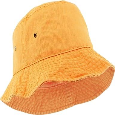c82073e018a68 Boonie Bucket Hat Fishing Hunting Outdoor Cap Orange at Amazon Men s ...
