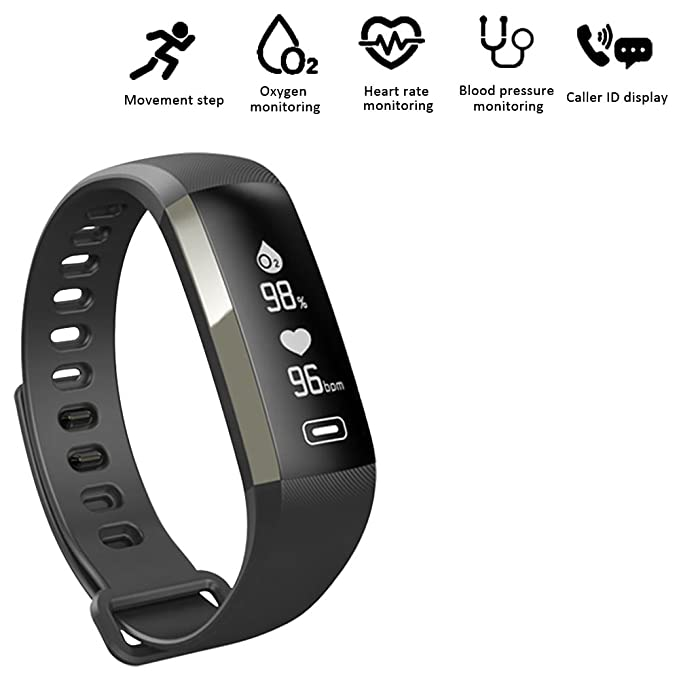 Fitness tracker 0.96 inch OLED touchscreen Smartband Heart Rate Blood Oxygen Pressure Monitor Pedometer watch Smart