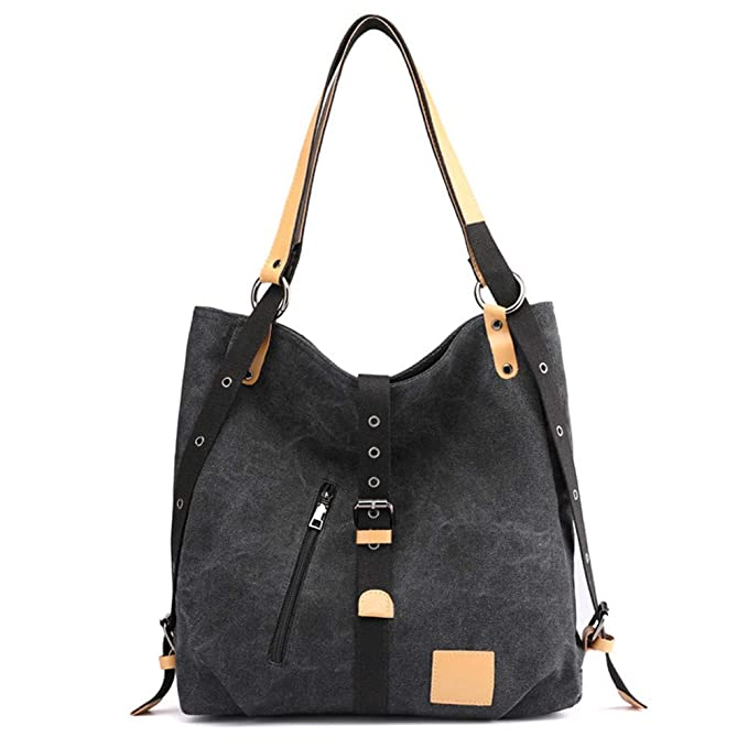 706a706396c9 Shoulder Bag Backpack Casual Handbag Tote Bag Travel Bag Cotton Canvas bag  Roomy purse Durable Lightweight women