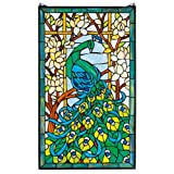 Stained Glass Panel - Peacock's Paradise Stained Glass Window Hangings - Window Treatments