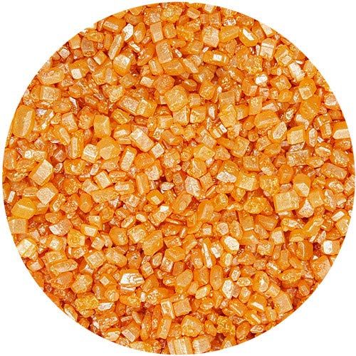 Natural Orange Nuts Dairy Soy Gluten GMO Free Shimmer Sparkling Sugar Bulk Pack.