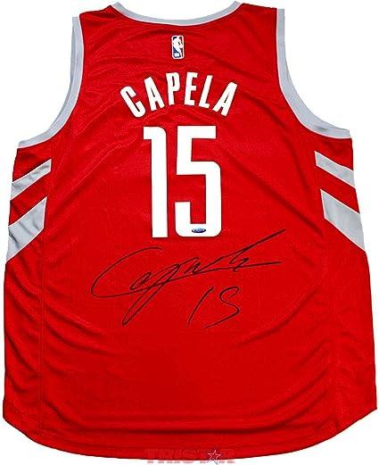 e03ff153f704 Clint Capela Autographed Jersey - Red Replica - Autographed NBA Jerseys