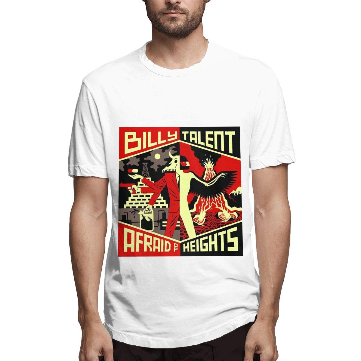 Lihehen Billy Talent Simple Casual Round Neck T Shirt
