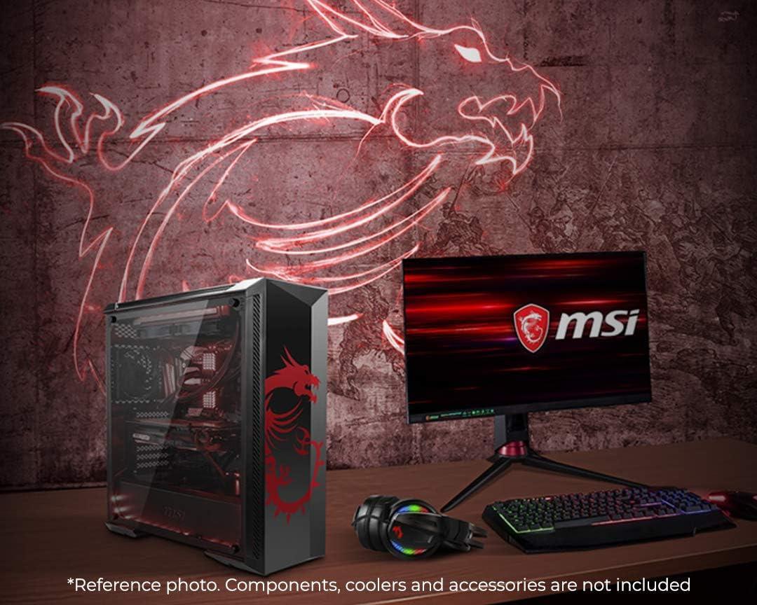 MSI MPG GUNGNIR 100D Mid-Tower Caja de PC Gaming (Negro, 1 x 120 mm RGB Ventilador Incluido, Panel Cristal Templado, EATX, ATX, mATX, Mini-ITX): Amazon.es: Informática
