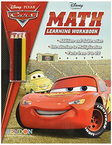 (Kole Imports Disney Pixar Cars Math Workbook with Pencils (HA415))