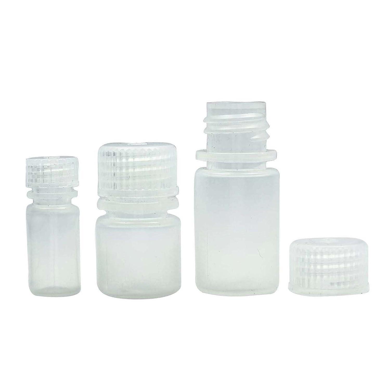 34fc2b1aa2d7 100 Pcs Empty White Plastic Bottles With Screw Cap Wholesale Boston Round  Bottle Refillabe...